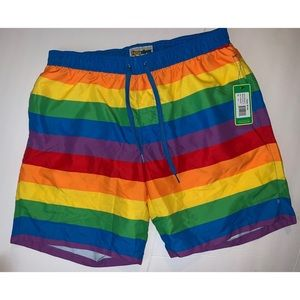 Tipsyelves rainbow swimtrunks sz XL TBGTQ rainbow